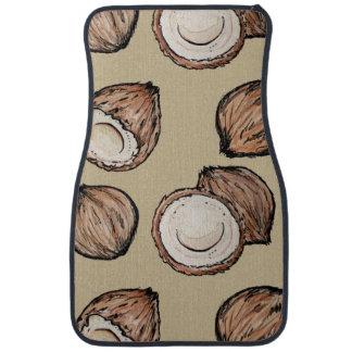 Nuts for Coconut Pattern Car Carpet