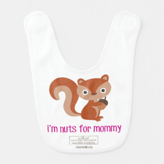 Nuts for Mommy Bib