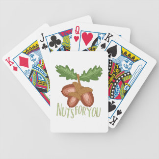 Nuts For You Bicycle Playing Cards