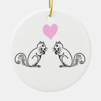 Nuts for you! round ceramic ornament