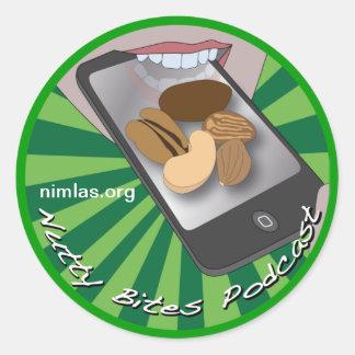 Nutty Bites Button Classic Round Sticker