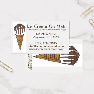 Nutty Buddy Chocolate Ice Cream Sweet Shoppe Cone Business Card