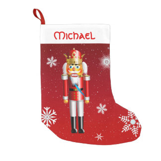Nutty Nutcracker King Small Christmas Stocking