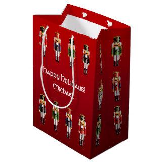 Nutty Nutcracker Toy Soldiers Medium Gift Bag