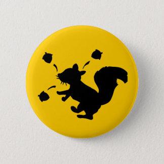 Nutty Squirrel 2 Inch Round Button