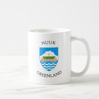 Nuuk coat of arms coffee mug