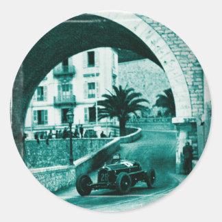 Nuvolari RK the 1932 Monaco Monaco Prix Round Sticker