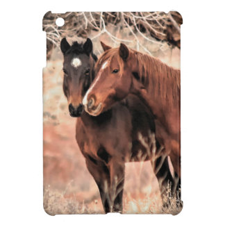 Nuzzling Horses iPad Mini Cases