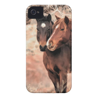 Nuzzling Horses iPhone 4 Cover