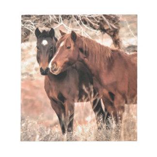 Nuzzling Horses Notepad