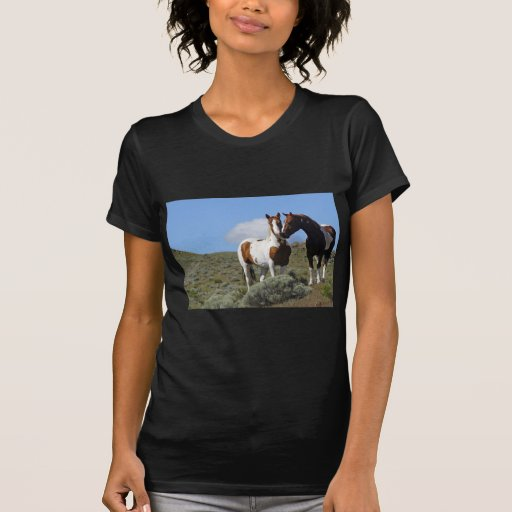 Nuzzling horses tshirt