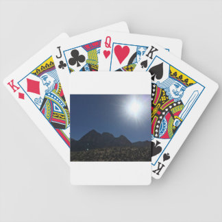 Nv mountain range bicycle playing cards