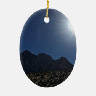 Nv mountain range ceramic ornament