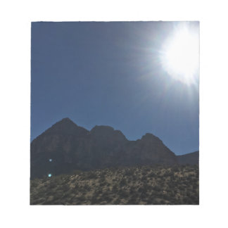 Nv mountain range notepad