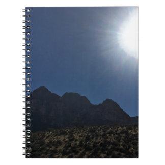 Nv mountain range spiral notebook