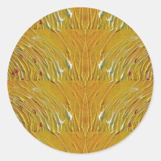 NVN25 navinJOSHI Sparkle Gold Jewel Pattern 101 Round Sticker