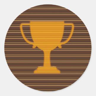 NVN342 Award Trophy Cup Winner FUN DECO Motivation Classic Round Sticker