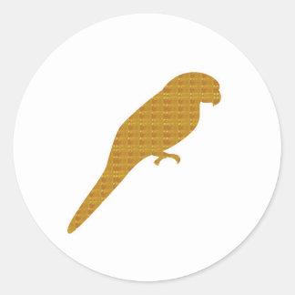 NVN345 Golden Parrot Bird Pet Fairytale Fly Wild Classic Round Sticker