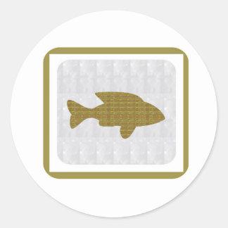 NVN350 Gold Fish GoldFish Fairytale pet aquatic fu Classic Round Sticker