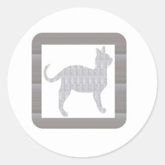 NVN352 Cat Kat Billi Pet Animal Doll Game Kids FUN Classic Round Sticker
