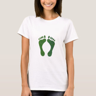 NVN36 navinJOSHI Green FOOTprint EarthDay Warming T-Shirt