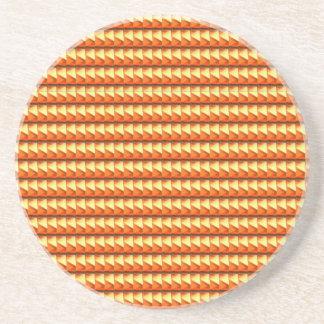 NVN3 Orange Golden Triangle Energy Art  NavinJOSHI Drink Coaster