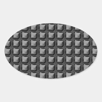 NVN4 Black Sq Rect Art by NavinJOSHI Oval Sticker