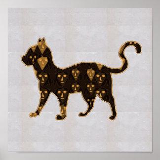 NVN67 CAT Animal ZOO PET WILD NavinJOSHI Poster