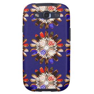 NVN6 Elegant BLUE Sunflower Sun CHAKRA NavinJOSHI Samsung Galaxy SIII Case