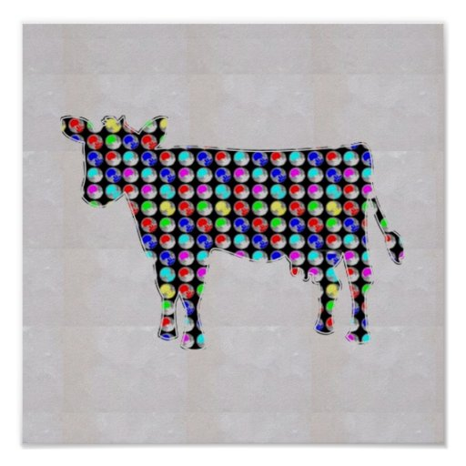 NVN81 COW animal domestic milk cheese  NavinJOSHI Posters