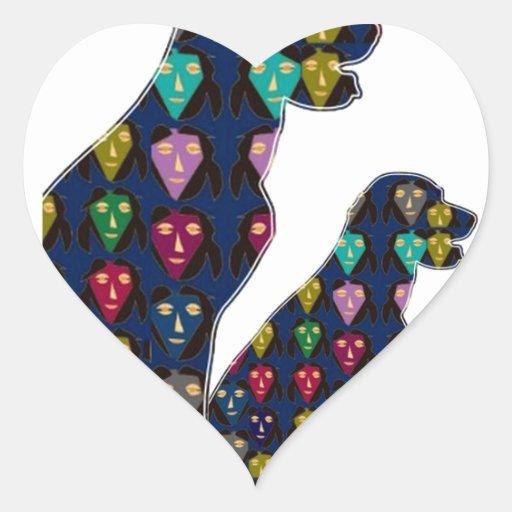 nvn88 dog PET LABRADOR dot painted pet navinJOSHI Heart Stickers
