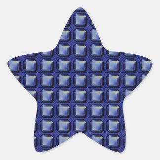 NVN8 NavinJOSHI Blue SQUARED art Star Sticker