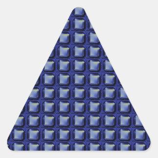 NVN8 NavinJOSHI Blue SQUARED art Triangle Sticker