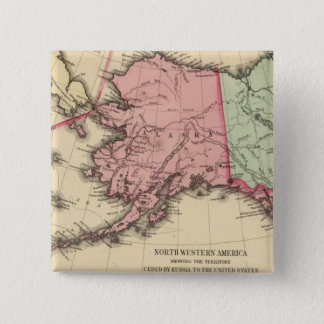 NW America Map by Mitchell 2 Inch Square Button