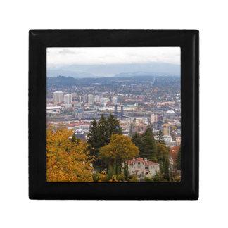 NW and NE Portland Cityscape during Fall Season Gift Box
