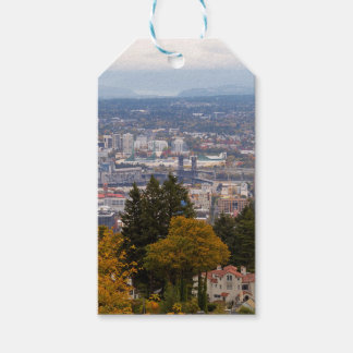 NW and NE Portland Cityscape during Fall Season Gift Tags