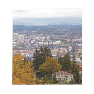 NW and NE Portland Cityscape during Fall Season Notepad