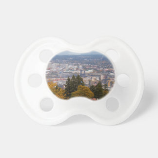 NW and NE Portland Cityscape during Fall Season Pacifier