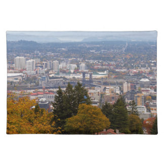 NW and NE Portland Cityscape during Fall Season Placemat