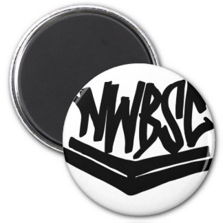 NWBSC wings-1 2 Inch Round Magnet