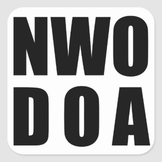 NWO D.O.A. Stickers - Glossy SQUARE STICKER 1