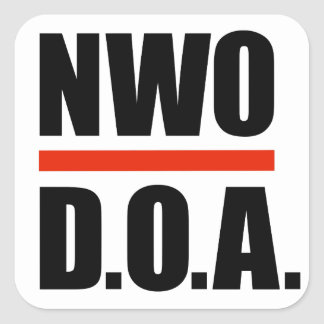 NWO D.O.A. Stickers - Glossy SQUARE STICKER 2