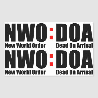 NWO D.O.A. Stickers - LONG (Double) STICKER 1