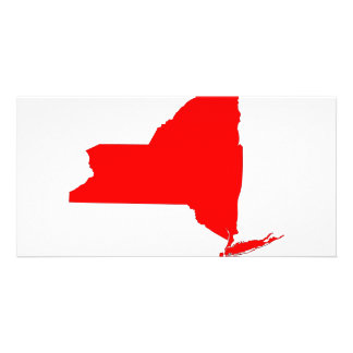 NY a Red State Custom Photo Card