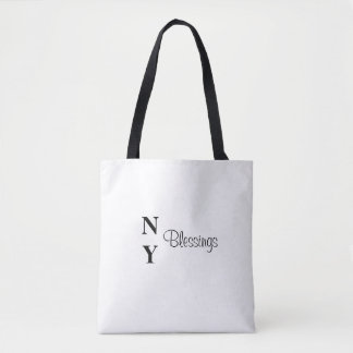 NY Blessings Black and White Inspirational Bag