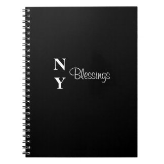 NY Blessings Journal Black and White