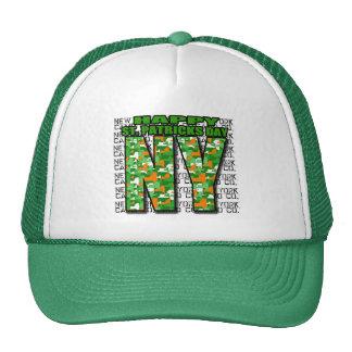 NY Camo Co St Pat's Day BOLD NY Trucker Hat