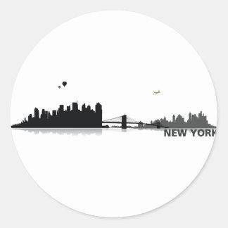 NY City Classic Round Sticker