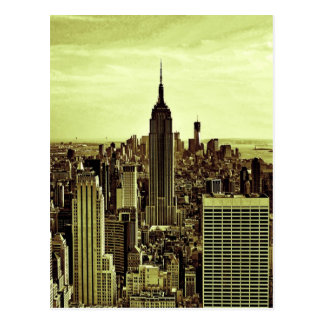 NY City Skyline Empire State Building, WTC 6 Post Card