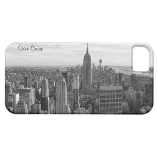 NY City Skyline Empire State Building, WTC BW 4 iPhone 5 Case